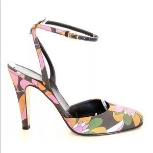 Kate Spade floral Shannon heels sz 6